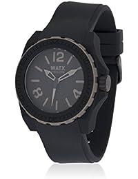 Watx RWA1802 - Reloj con correa de caucho para hombre, color negro / gris