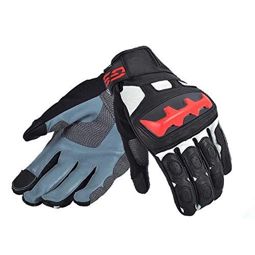 Motorrad handschuh Ankunft Motorrad GS Handschuhe für BMWLederhandschuhe Schwarz/Rot