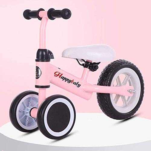 ZXCMNB Trike Baby Balance, Bike Kids Leichtes Lauftraining Dreirad Kein Pedal Kinderauto for 1-3 Jahre (Color : Pink)