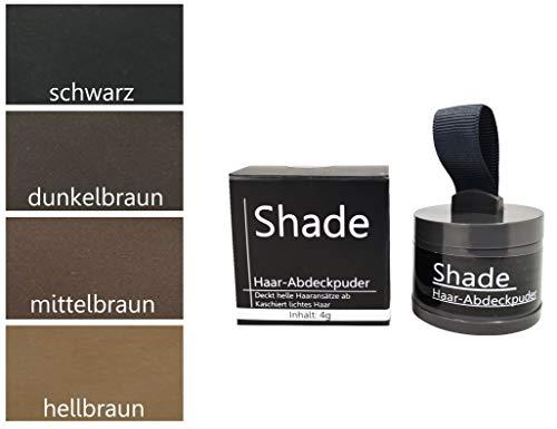 SHADE (DUNKELBRAUN) - Haarpuder zum Abdecken vom hellen Haarabsatz, Haarausfall oder kahle Stellen...