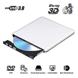 * Gravez des disques Blu-Ray, ce lecteur Blu-ray USB 3.0 vous permettant de lire des disques Blu-Ray, DVD et CD, n'écrivez que sur DVD, CD. * Equipé de 2 ports USB, assure une alimentation suffisante, s'il vous plaît branchez le câble de charge par p...
