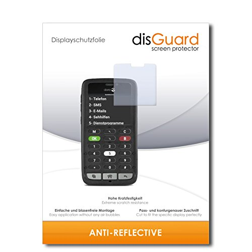 disGuard® Displayschutzfolie [Anti-Reflex] kompatibel mit Doro 8031C [3 Stück] Entspiegelnd, Matt, Antireflektierend, Extrem Kratzfest, Anti-Fingerabdruck - Panzerglas Folie, Schutzfolie