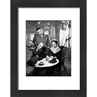 Framed 16x12 Print of Film - The Vessel of Wrath - Charles Laughton and Elsa Lanchester (11090412)
