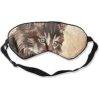Cute Cat Paint Sleep Eyes Masks - Comfortable Sleeping Mask Eye Cover For Travelling Night Noon Nap Mediation... preisvergleich bei billige-tabletten.eu