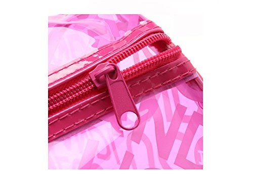 westeng Fashion da donna ragazza superficie in PVC trasparente frontespizio spiaggia nuoto impermeabile Borsetta Borsa a tracolla Rose Red