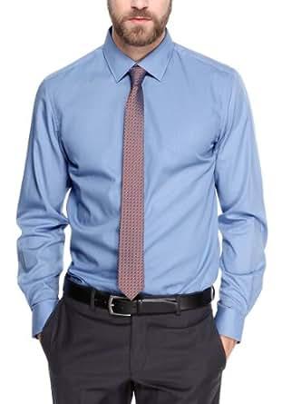 s.Oliver BLACK LABEL Herren Businesshemd 02.899.21.0903, Gr. 39, Blau (5334)