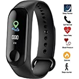 Meya Happy M3 Smart Band for Men Women Fitness Tracker for Sports/Gym Lovers | Has Heart Rate Monitor Activity Tracker, Steps/Calorie Burnt Counter