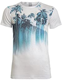 "'T-Shirt ""palmblue – par le Japon Rags – Couleur White"