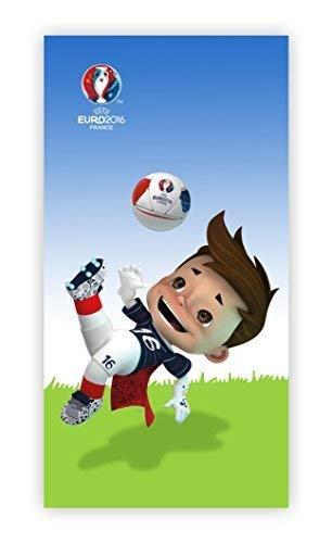 Europa-handtuch (UEFA EURO 2016 Fußball EM Europa Maskottchen HANDTUCH BADETUCH SAUNA 75x150cm NEU)