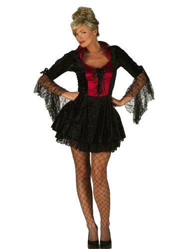 mix_lot Damen Neuheiten Halloween Fräulein Dracula Kleider Frauen Sexy Slim Fit Engen Vampir Outfit Mädchen-Fantasie-Partei-Kostüm Größe S/M/L/XL (Klein)