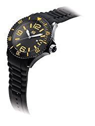40Nine Mens 40NINE01/BLACK/O Extra Large 50mm Analog Display Japanese Quartz Black Watch