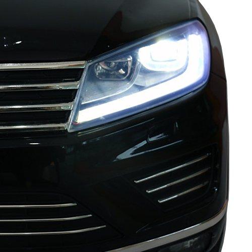 RC Auto kaufen Kinderauto Bild 5: crooza Touareg Touch-Display Bluetooth SoftStart Kinderauto Kinderfahrzeug Kinder Elektroauto SCHWARZ*