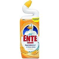 WC-Ente Flüssiger WC Reiniger, Mit Entenhals, Citrus-Duft, 750 ml, WC-Gel 5in1, 3er Pack (3 x 750 ml)