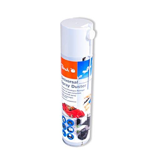 Peach Universal Druckluftreiniger PA100, 400 ml, 1 Stück | präzise, dank Sprühkopfverlängerung | ideal für die Reinigung im Haushalt und Büro | auch für empfindliche Geräte | H-FCKW / FCKW - frei | Made in Germany