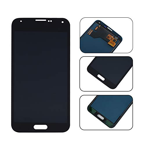 YHX-OU Für Samsung Galaxy S5 I9600 SM-G900 G900F LCD Display Touchscreen Ersatz Bildschirm mit Komplett Werkzeug (Schwarz) (Schwarz S5-bildschirm Galaxy)