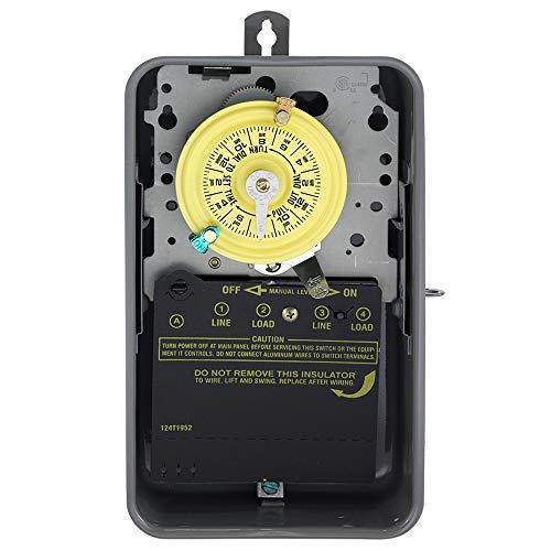 Intermatic t104r 208-277-volt DPST Mechanischer 24-Stunden Zeit Schalter mit Outdoor Case, T104R, 277V - Dpst-timer