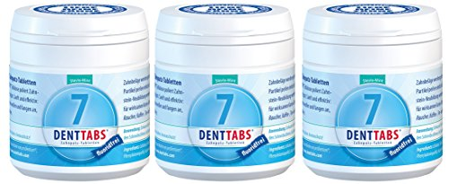 Denttabs fluoridfrei - 3 x 125Stck.Zahnputztabletten ohne Fluorid