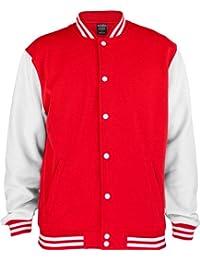 URBAN CLASSICS 2-Tone College Sweatjacke TB207 red/white L