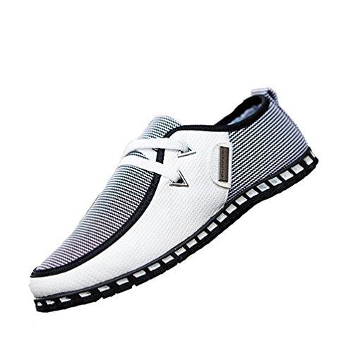 XIGUAFR Hommes Chaussures de Conduite Casual Chaussures Pois Printemps et Automne Classique Légère