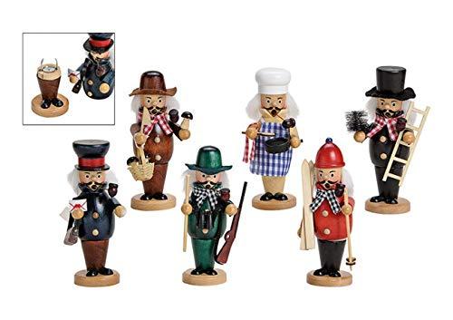 Räucher-Männchen aus Holz + 24 Räucher-Kerzen/Weihnachtsdeko / - Weihnachts-Schmuck - Dekoration Winter & Advent - 1 STÜCK (Koch)