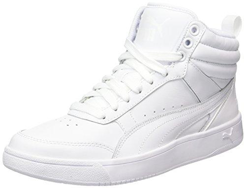 Puma Unisex-Erwachsene Rebound Street v2 L Sneaker, Weiß White, 43 EU (Basketball-schuhe Und Eine)