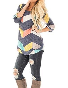 Mujeres Borla Media Manga Batwing Jersey De Punto Tunic Camiseta Top De La Blusa