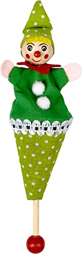 Pequeña Marioneta de Cono Payaso Verde