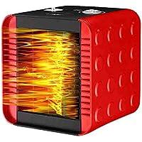 ZBJJ Calentador de Ventilador eléctrico Calentador de Ventilador de Escritorio PTC portátil con Viento cálido y Natural para el Dormitorio de la Oficina en casa (Color : Red)