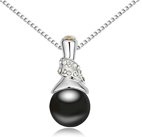 Daesar Schmuck Damenkette Vergoldet Ball Halsketten Zirkonia Anhänger Halskette für Frauen