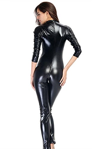 1566e776ffde Women Sexy Siamese Patent Leather Lingerie Costume Catwoman Latex Catsuit  Pvc Bodysuit Jumpsuit Dres - £23.57
