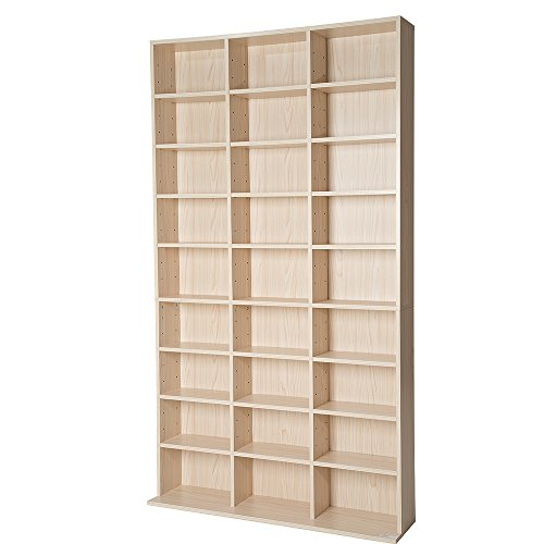 TecTake Estante de CD DVD shelf archivado 1080 CDs DVDs - disponible en diferentes colores - (Haya | no. 401702)