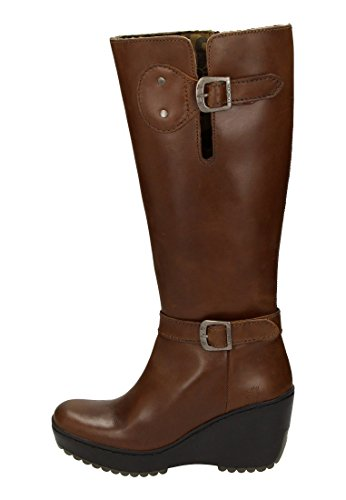 FLY London Mlea Damen Stiefel Camel/Beige