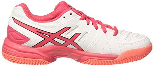 Asics Gel-Padel Pro 3 Sg, Scarpe da Tennis Donna Bianco (White / Rouge Red / Flash Coral)