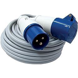 Electraline - 461470 ip44 extensión industrial, cable fror 3g1.5 10 metros, macho y hembra iec 220 v t 2p
