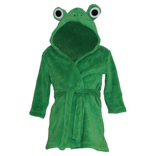 Baby-Bademantel mit Kapuze, Fleece, weich, Frosch-Design, 9-12 Monate