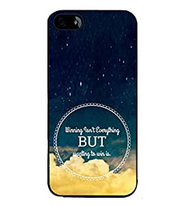 Fiobs High Glossy Designer Phone Back Case Cover Apple iPhone SE ( Winning is not Everything Wainting Is )