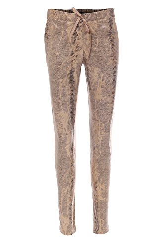 bloom Hose in Leder-Optik im Jogger-Stil 34, Beige (Leder-jogger)