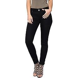 KRISP Mujer Pantalones Vaqueros Pitillo Moda, Negro (2300), 40, 2300-BLK-12