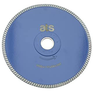 ATS 200mm x 30mm/25.4mm/22.23mm Turbo Porcelain Tile Diamond Blade