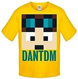 One Stop Kids - Camiseta de manga corta - para niño naranja DanTDM Yellow