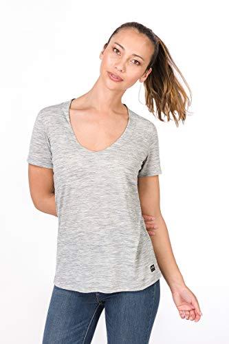super.natural Damen T-Shirt, Mit Merinowolle, W City Tee, Größe: S, Farbe: Hellgrau