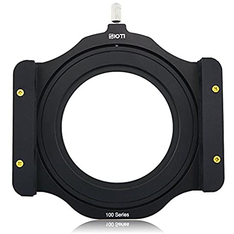 SIOTI 100mm Square Z series Aluminum Modular Filter Holder + 72mm-77mm Aluminum Adapter Ring for Lee Hitech Singh-Ray Cokin Z PRO 4X4