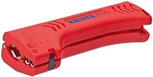 KNIPEX 16 90 130 SB Outil à dégainer universel pour câbles pour bâtiments et pour l'industrie 130 mm