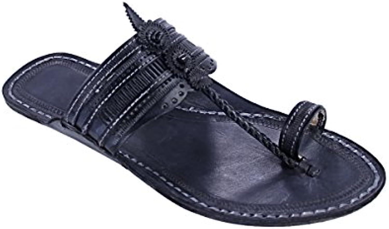 KOLHAPURI CHAPPAL Original Time Preferrosso nero for Men Slipper Sandal   Le vendite online    Uomini/Donna Scarpa