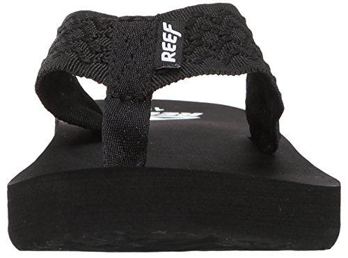 Reef Smoothy, Tongs homme Noir (Black)