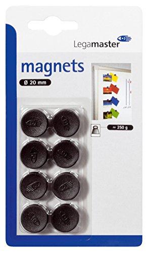 Legamaster Haftmagnete C und C Blister, 20 mm, circa 250 g, schwarz - 20 Blister
