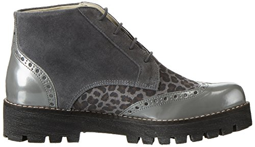 Marc Shoes Katy, Brogues femme Gris - Grau (grey-combi 00153)