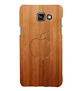 printtech Apple Wooden Back Case Cover for Samsung Galaxy A7 (2016)