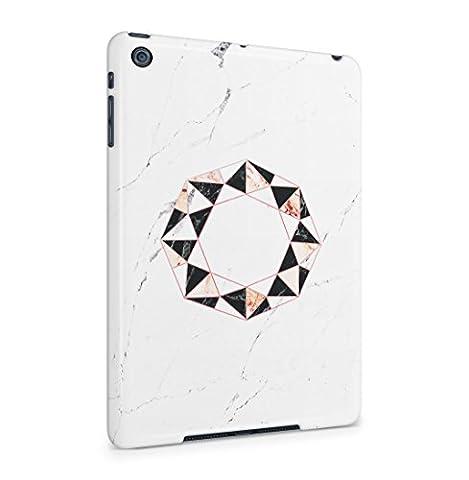 Onyx & Rose Quartz Octagon On White Marble Stone Coque De Protection Fine En Plastique Housse Etui Rigide Pour iPad Mini 1 Slim fit Case Cover
