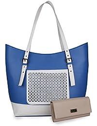 WOMEN MARKS SHOULDER BAG BLUE&WHITE (SHIP) COMBO